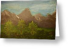 Within The Mountains Greeting Card by Joshua Massenburg