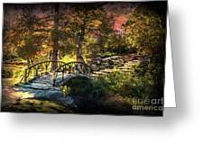 Woddard Park Bridge II Greeting Card by Tamyra Ayles