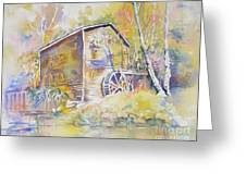 Wolf Creek Grist Mill Greeting Card by Mary Haley-Rocks
