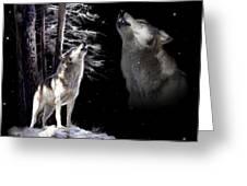 Wolf  Howling Memory Greeting Card by Regina Femrite