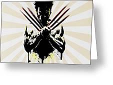Wolverine Greeting Card by Mark Ashkenazi