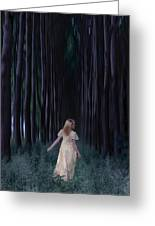 Woman In Forest Greeting Card by Joana Kruse