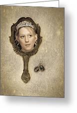 Woman In Mirror Greeting Card by Amanda Elwell