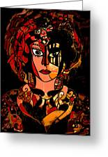 Woman Of Mystery Greeting Card by Natalie Holland