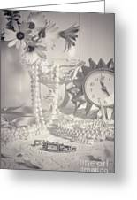 Womans Dressing Table Greeting Card by Amanda And Christopher Elwell