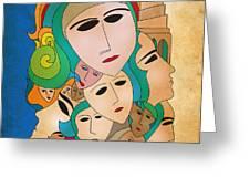 Women from Mesopotamia Greeting Card by Qutaiba Al-Mahawili