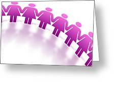 Women Holding Hands Greeting Card by Aged Pixel