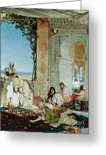 Women Of A Harem In Morocco Greeting Card by Jean Joseph Benjamin Constant