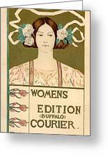 Women's Edition Buffalo Courier Greeting Card by Gianfranco Weiss