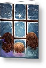 Wonder Of The Night Greeting Card by Janine Riley