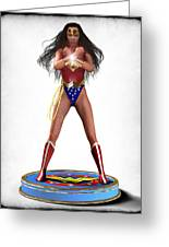 Wonder Woman V2 Greeting Card by Frederico Borges