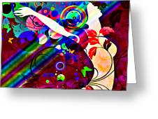 Wondrous At The End Of The Rainbow Greeting Card by Angelina Vick