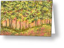 Wood In The Sunset Greeting Card by Vic  Mastis
