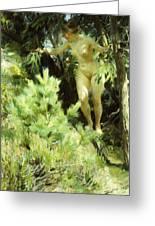 Wood-sprite Greeting Card by Anders Leonard Zorn
