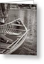 Wooden Canoe Greeting Card by Edward Fielding