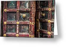 Wooden door Greeting Card by Catherine Arnas