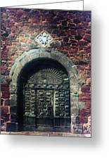 Wooden Gate Greeting Card by Joana Kruse