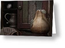 Wooden Pear Still Life Greeting Card by Tom Mc Nemar