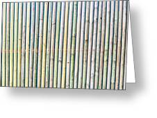 Wooden Poles Greeting Card by Tom Gowanlock