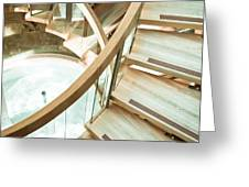 Wooden staircase Greeting Card by Tom Gowanlock