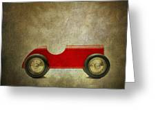 Wooden Toy Car Greeting Card by Bernard Jaubert