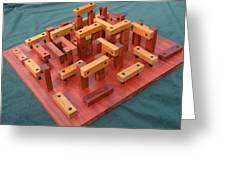 Woodhenge Greeting Card by Dave Martsolf