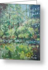 Woodland Pond Greeting Card by Sarah Parks