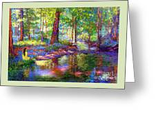 Woodland Rapture Greeting Card by Jane Small