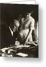 Woodrow And Edith Wilson Greeting Card by Georgia Fowler