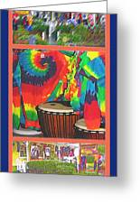 Woodstock Triptych Greeting Card by Steve Ohlsen