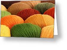 Wool Yarn Greeting Card by Jim Hughes
