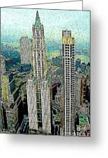 Woolworth Building New York City 20130427 Greeting Card by Wingsdomain Art and Photography
