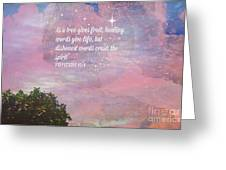 Words Of Wisdom Greeting Card by Sherri  Of Palm Springs