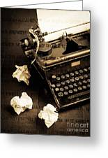 Words Punched On To Paper Greeting Card by Edward Fielding