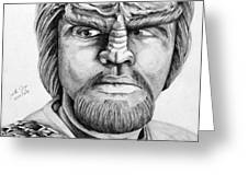 Worf Greeting Card by Judith Groeger