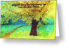 Work Of Faith Greeting Card by Catherine Saldana