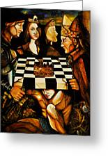 World Chess   Greeting Card by Dalgis Edelson