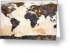 World Map Abstract Greeting Card by Bob Orsillo