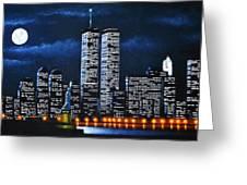 World Trade Center Buildings Greeting Card by Thomas Kolendra