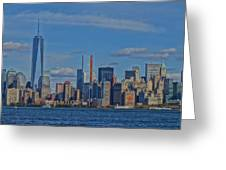 World Trade Center Painting Greeting Card by Dan Sproul