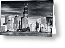 World Trade Center Rebirth Greeting Card by John Rizzuto