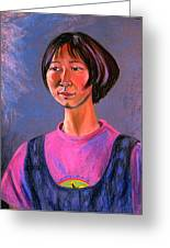 World Traveler For Peace Greeting Card by Asha Carolyn Young