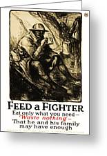 World War 1 - U. S. War Poster Greeting Card by Daniel Hagerman