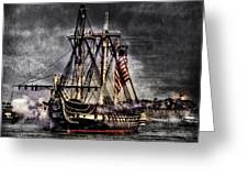 World's Oldest Commissioned Warship Afloat - Uss Constitution Greeting Card by Ludmila Nayvelt