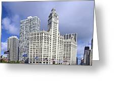 Wrigley Building Chicago Greeting Card by Christine Till