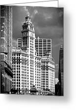 Wrigley Building Chicago Illinois Greeting Card by Christine Till