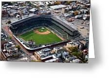 Wrigley Field Chicago Sports 02 Greeting Card by Thomas Woolworth