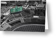 Wrigley Field Chicago Sports 04 Selective Coloring Greeting Card by Thomas Woolworth