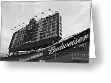 Wrigley Scoreboard Sans Color Greeting Card by David Bearden
