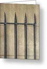 Wrought Iron Gate Greeting Card by Brenda Bryant